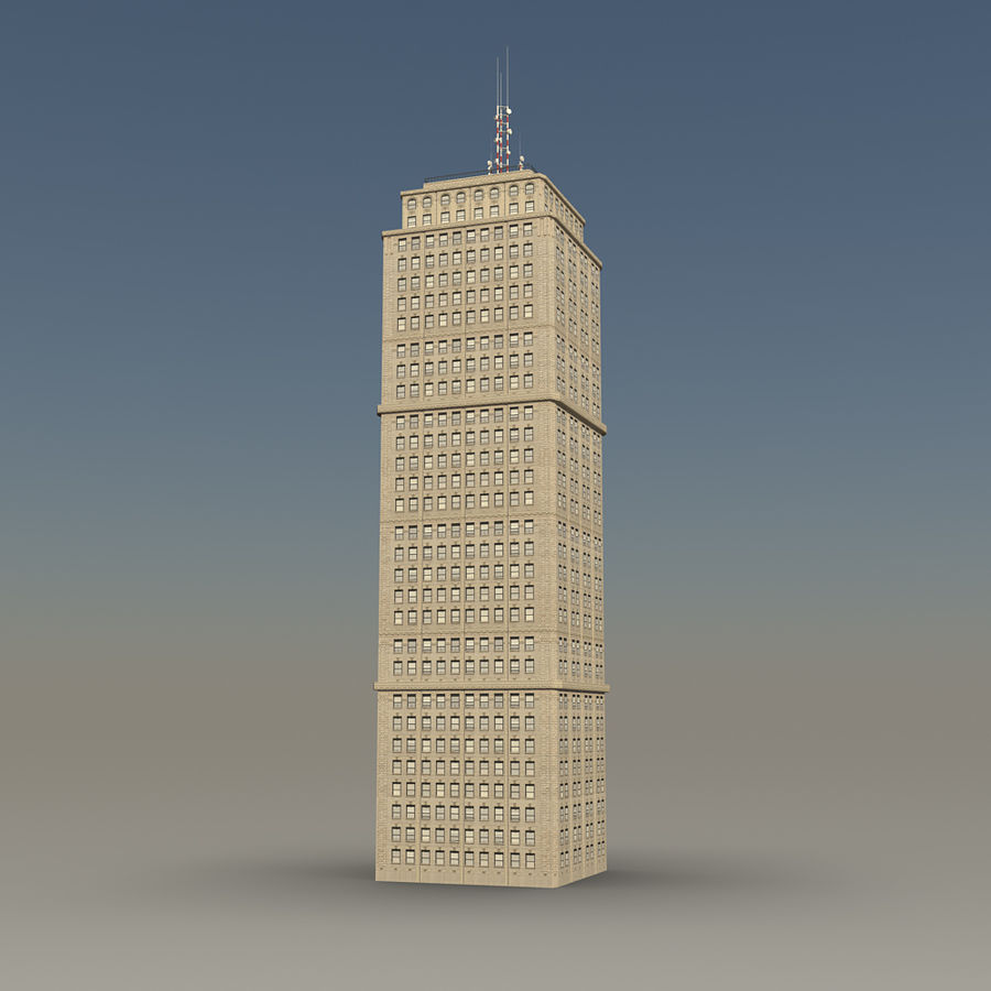 Skyscraper 03 - Day And Night royalty-free 3d model - Preview no. 1