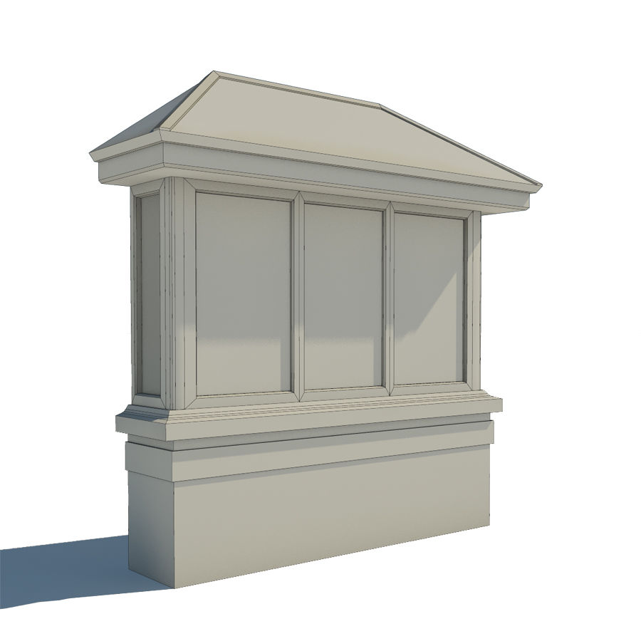 Window (Bay) royalty-free 3d model - Preview no. 3
