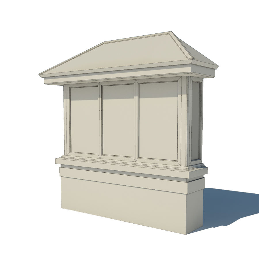 Window (Bay) royalty-free 3d model - Preview no. 5