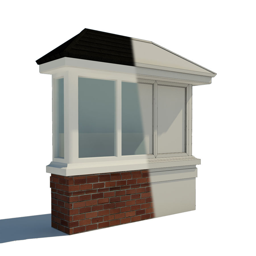 Window (Bay) royalty-free 3d model - Preview no. 2