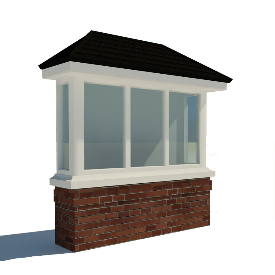 Window (Bay) royalty-free 3d model - Preview no. 1