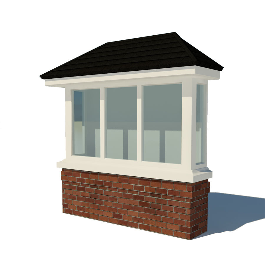 Window (Bay) royalty-free 3d model - Preview no. 4