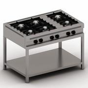 Six Burner 3d model