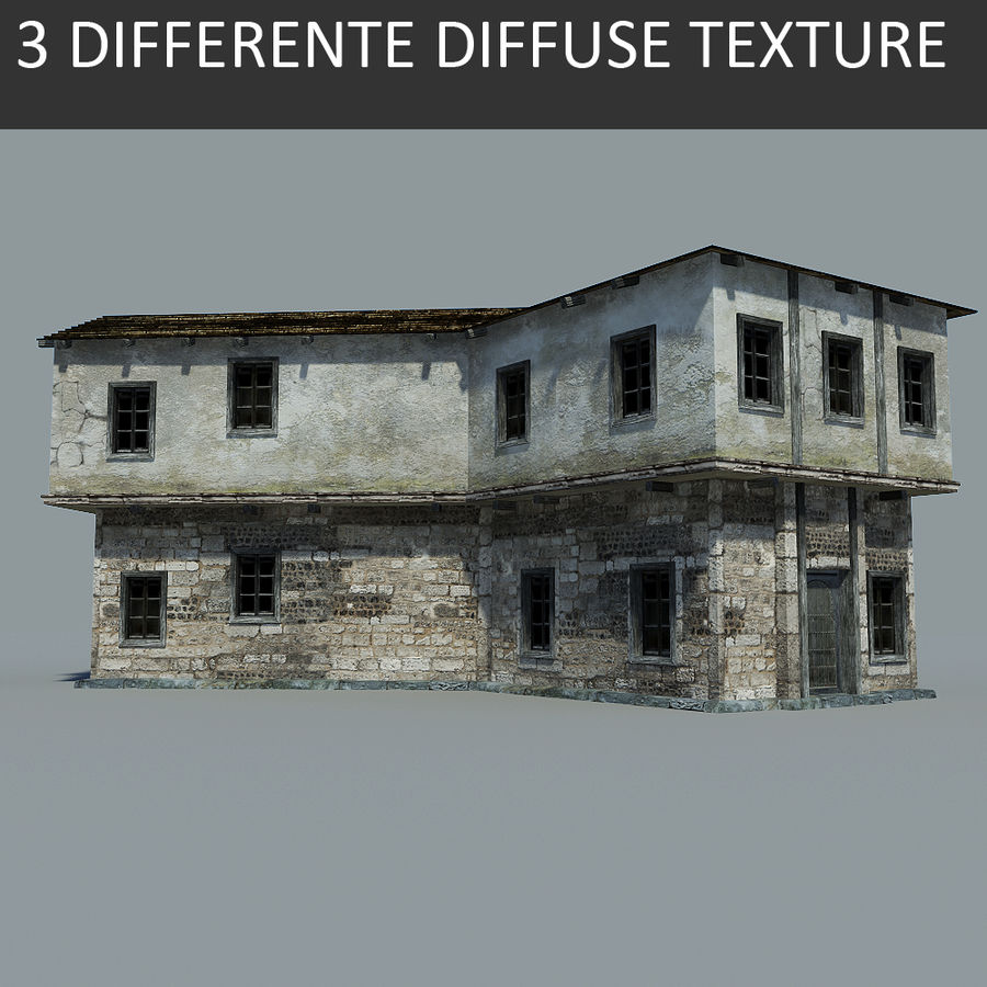 Old House royalty-free 3d model - Preview no. 1
