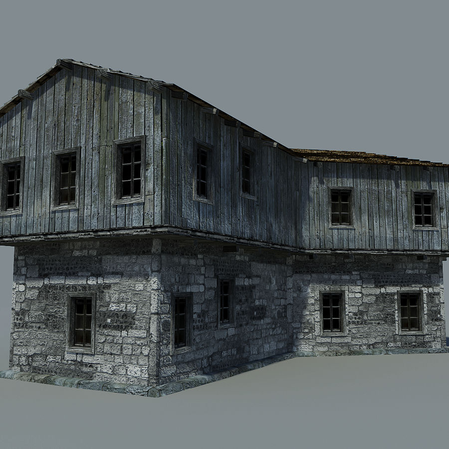 Old House royalty-free 3d model - Preview no. 2
