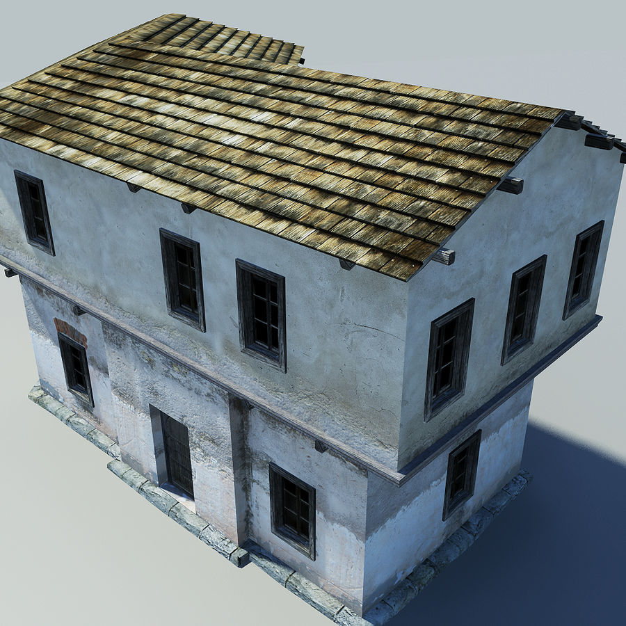 Old House royalty-free 3d model - Preview no. 6