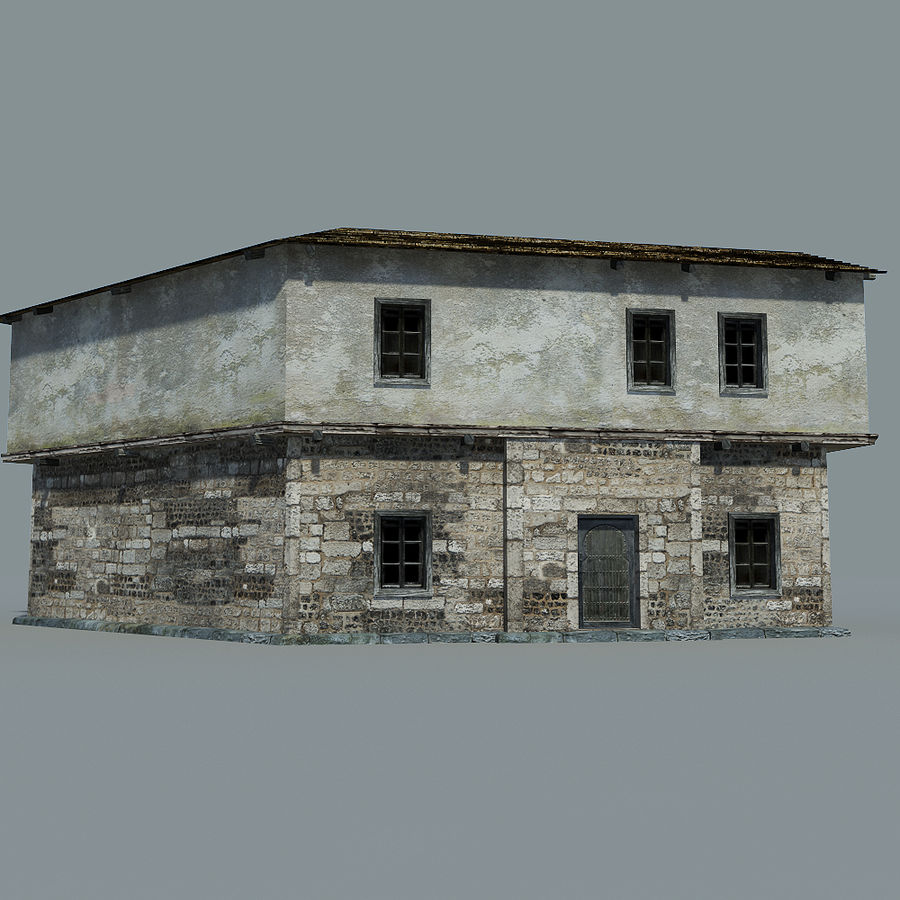 Old House royalty-free 3d model - Preview no. 9