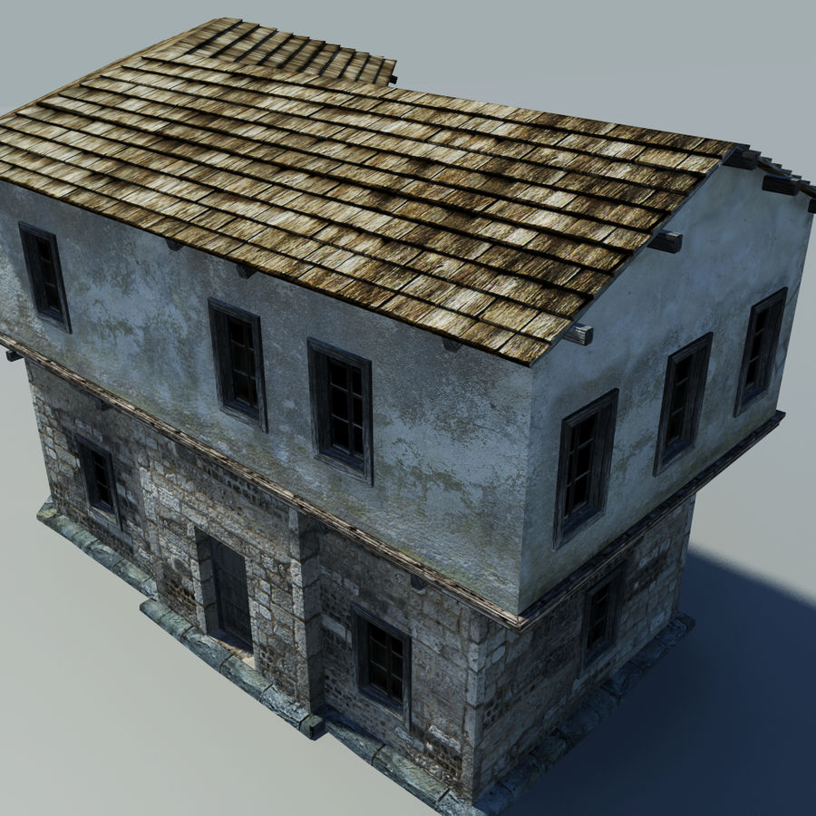Old House royalty-free 3d model - Preview no. 5