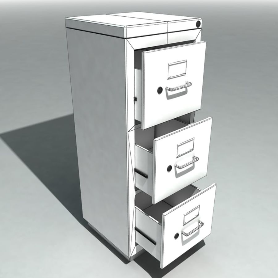 Pleasing Single Metal Filing Cabinet 3D Model 8 Max Obj Fbx Download Free Architecture Designs Scobabritishbridgeorg