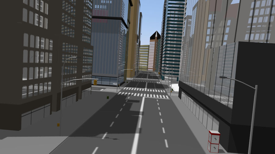 cityscape royalty-free 3d model - Preview no. 5