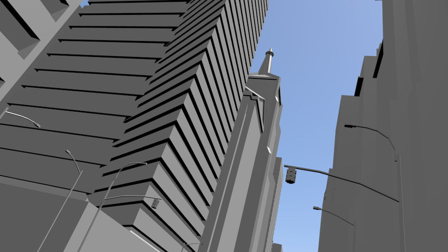 cityscape royalty-free 3d model - Preview no. 14