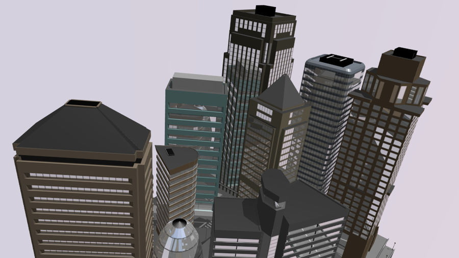 cityscape royalty-free 3d model - Preview no. 8