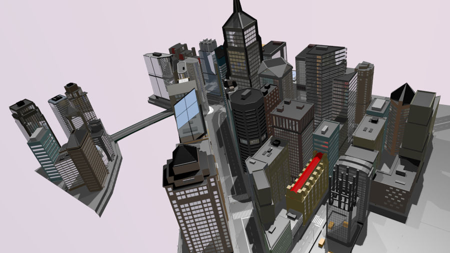 cityscape royalty-free 3d model - Preview no. 18