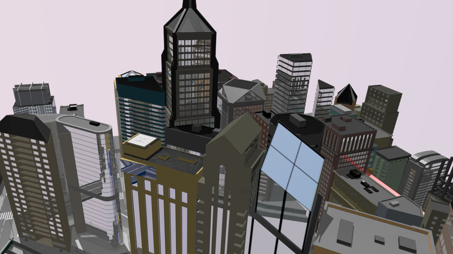 cityscape royalty-free 3d model - Preview no. 2