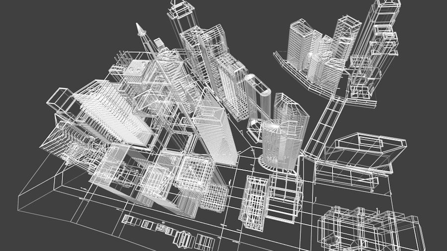 cityscape royalty-free 3d model - Preview no. 16