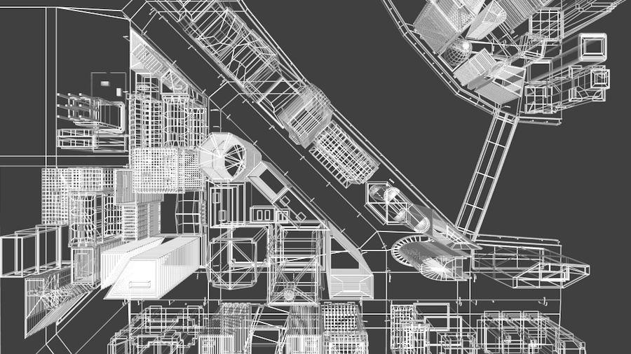paisaje urbano royalty-free modelo 3d - Preview no. 17