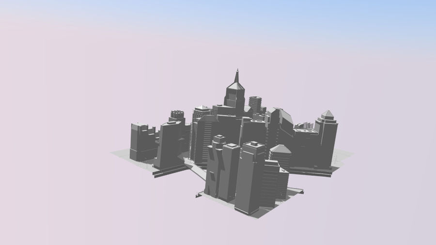 cityscape royalty-free 3d model - Preview no. 15
