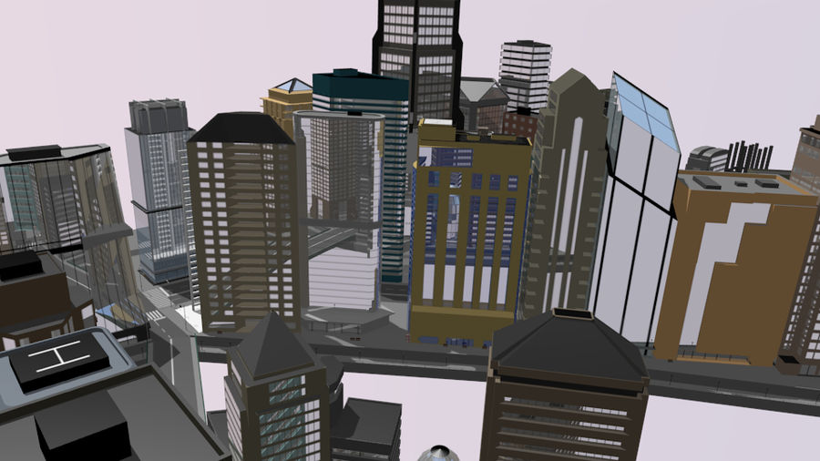 cityscape royalty-free 3d model - Preview no. 4