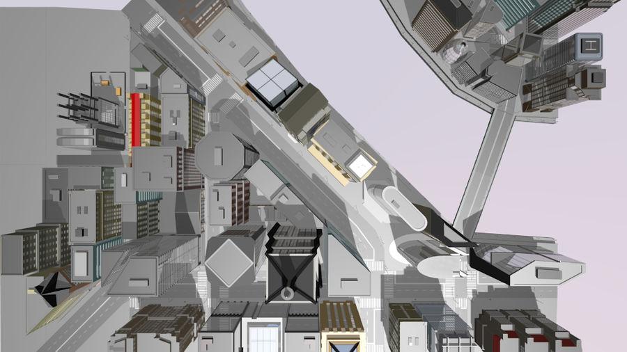 paisaje urbano royalty-free modelo 3d - Preview no. 9