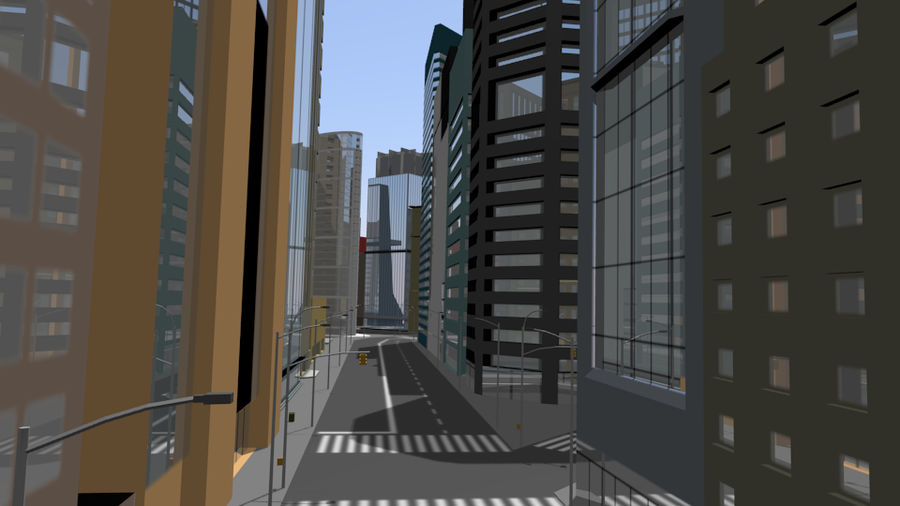 cityscape royalty-free 3d model - Preview no. 6