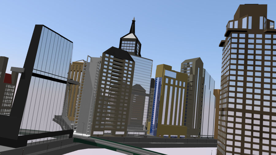 cityscape royalty-free 3d model - Preview no. 3