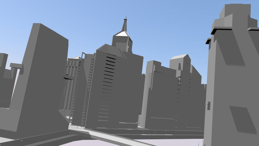 cityscape royalty-free 3d model - Preview no. 10