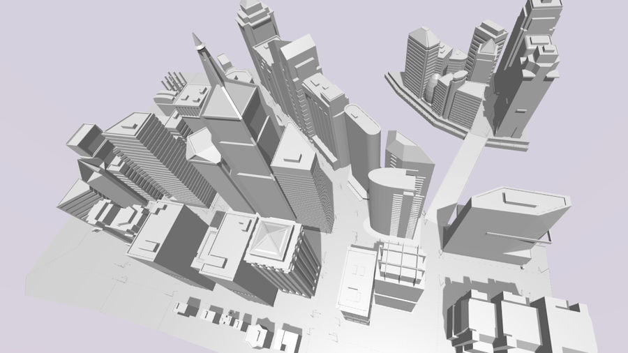 cityscape royalty-free 3d model - Preview no. 12