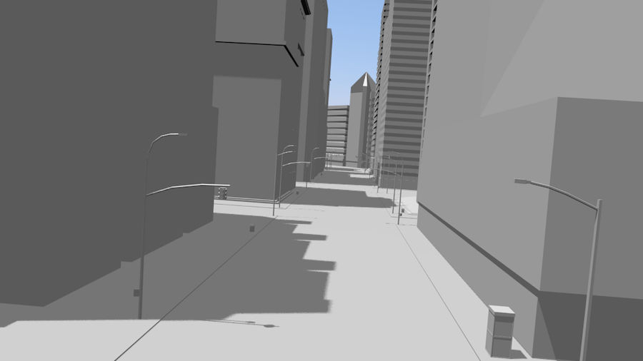 cityscape royalty-free 3d model - Preview no. 13