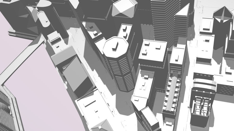 cityscape royalty-free 3d model - Preview no. 11