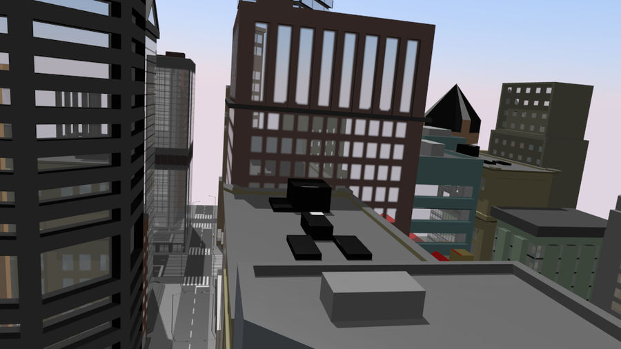 cityscape royalty-free 3d model - Preview no. 7