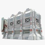 Bâtiment futuriste de science-fiction 3d model