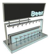 Modern bar v2 3d model
