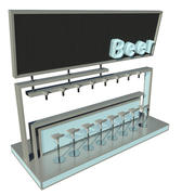 Современный бар v2 3d model