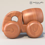 Wooden Toy Truck 3d model