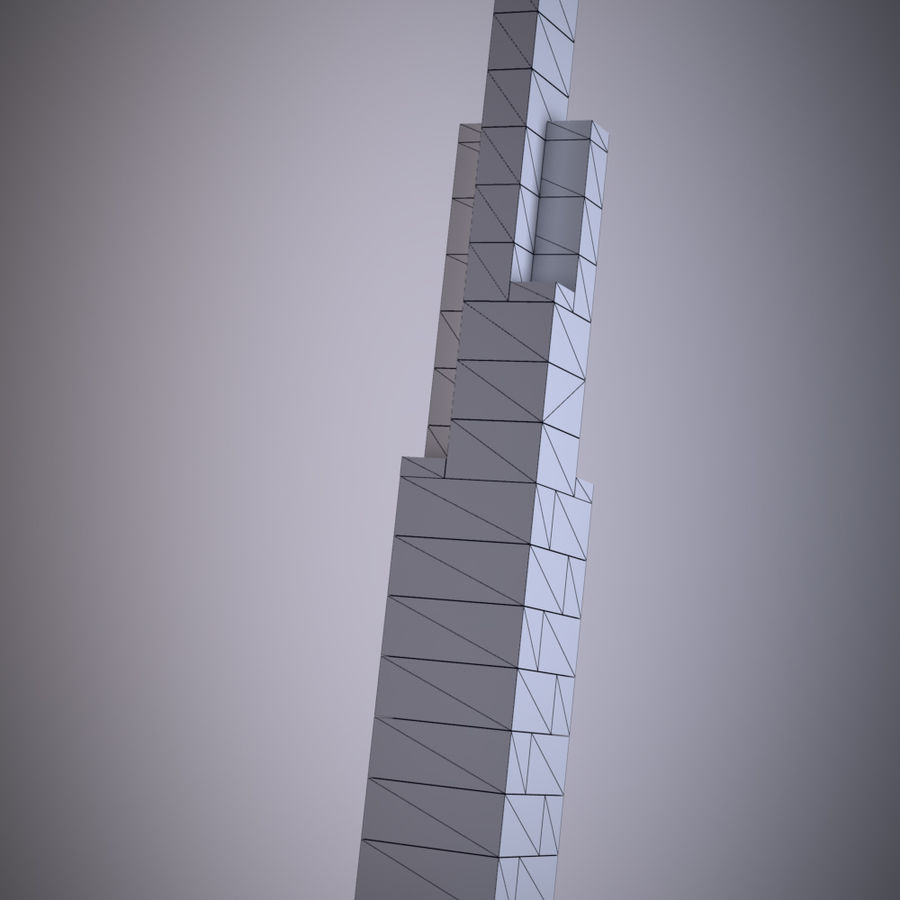 Lego Willis Tower royalty-free 3d model - Preview no. 3