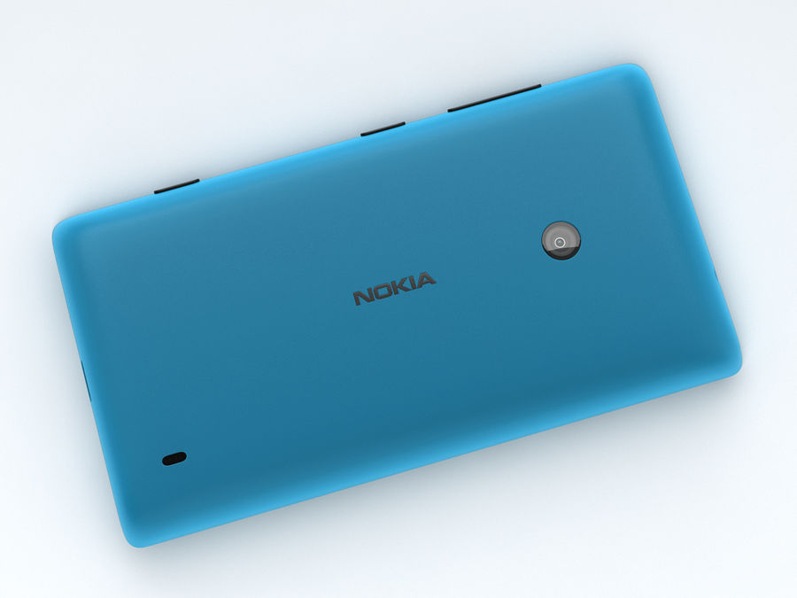 Nokia Lumia 520 royalty-free 3d model - Preview no. 19