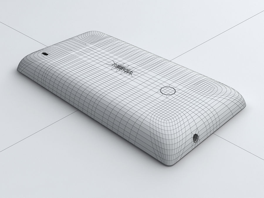 Nokia Lumia 520 royalty-free 3d model - Preview no. 29
