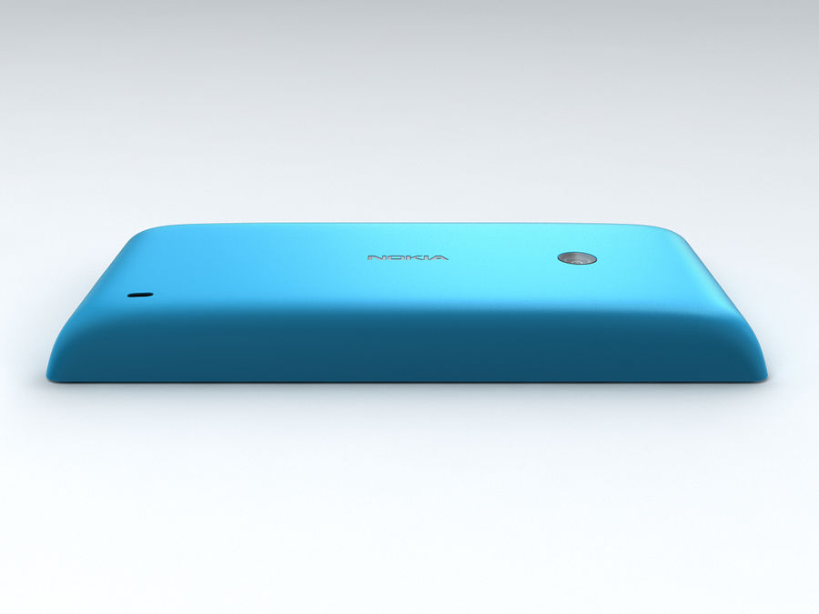 Nokia Lumia 520 royalty-free 3d model - Preview no. 17