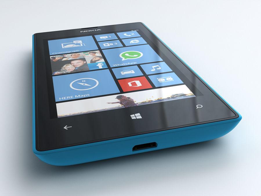 Nokia Lumia 520 royalty-free 3d model - Preview no. 5
