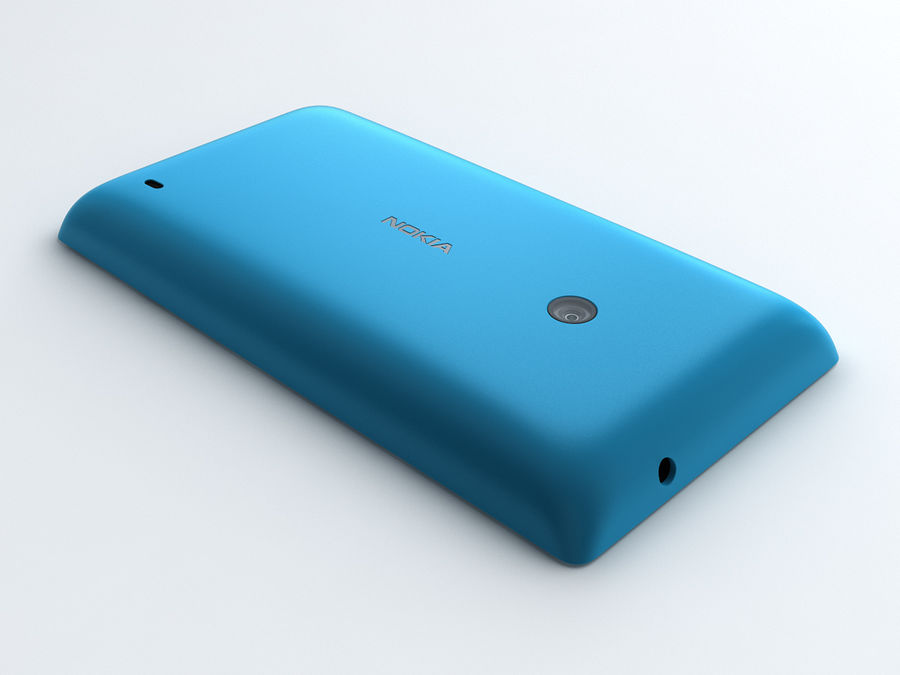 Nokia Lumia 520 royalty-free 3d model - Preview no. 3