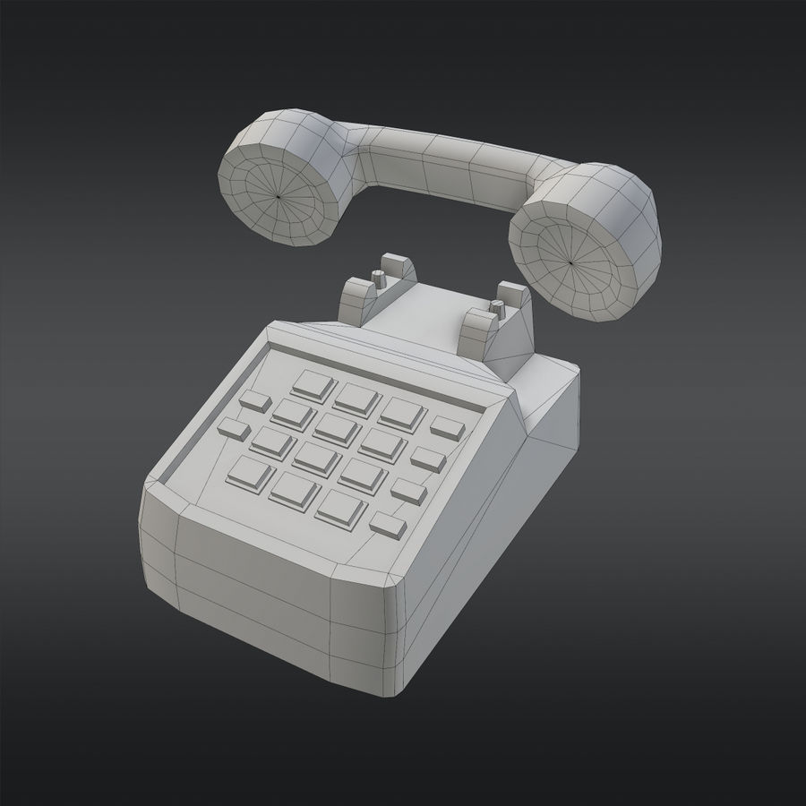 Phone 01 royalty-free 3d model - Preview no. 10