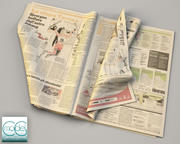 newspaper Gazzetta dello sport 4 3d model