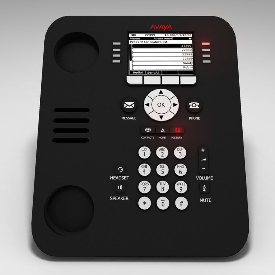 Ofis telefonu royalty-free 3d model - Preview no. 3