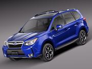 Subaru Forester 2014 3d model