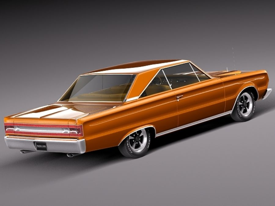Plymouth GTX 1967 royalty-free 3d model - Preview no. 5