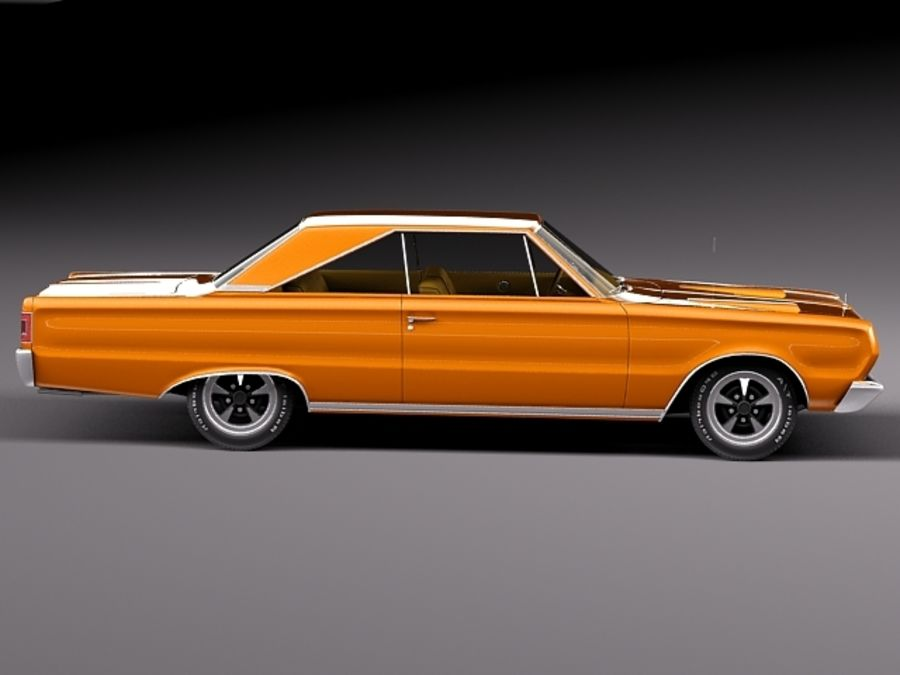 Plymouth GTX 1967 royalty-free 3d model - Preview no. 7