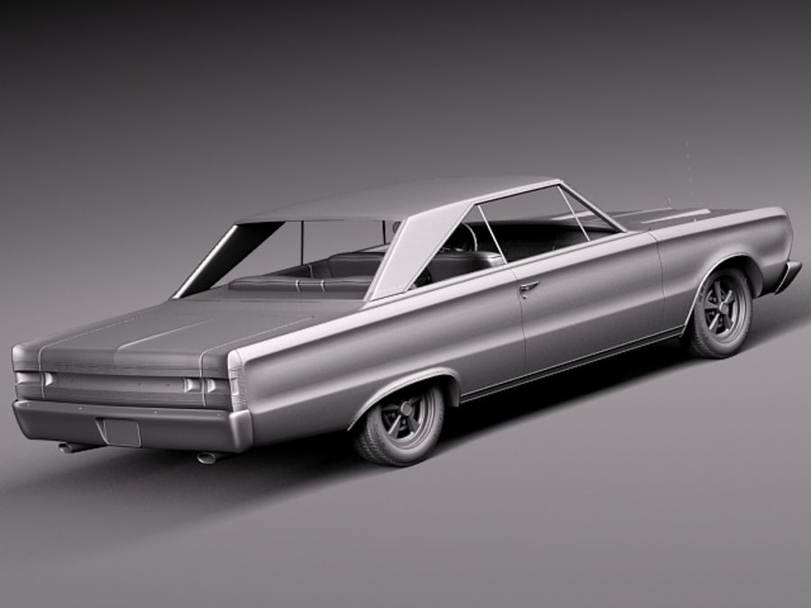 Plymouth GTX 1967 royalty-free 3d model - Preview no. 15