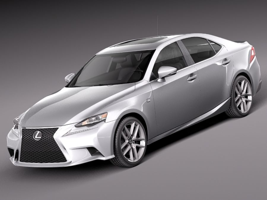 Lexus IS 2014 royalty-free 3d model - Preview no. 1