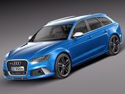 Audi RS6 Avant 2014 3d model