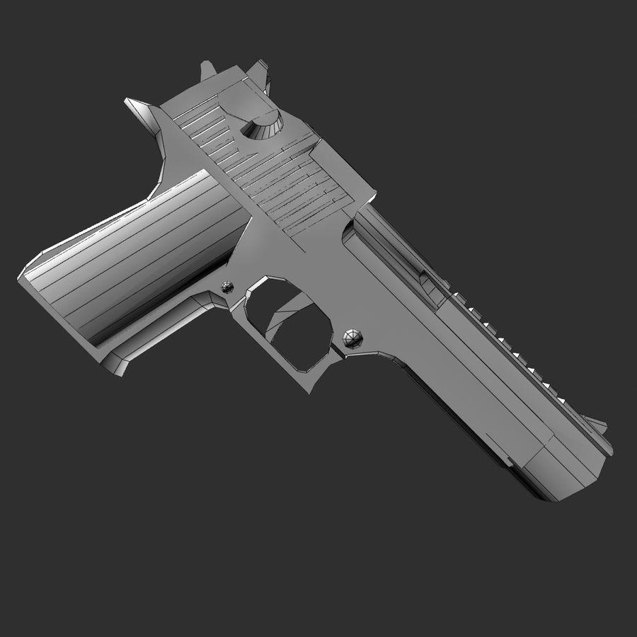 desert eagle royalty-free 3d model - Preview no. 7
